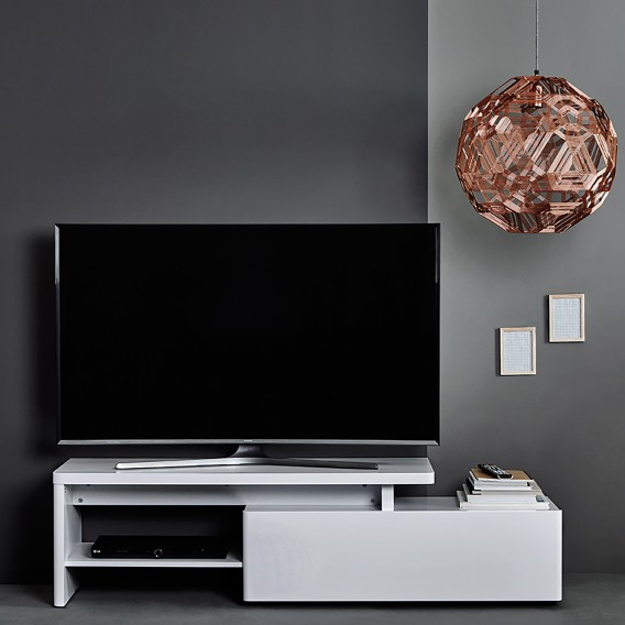Weiß Cu 160 libre lowboard Hochglanz Tv MUzpGVqS