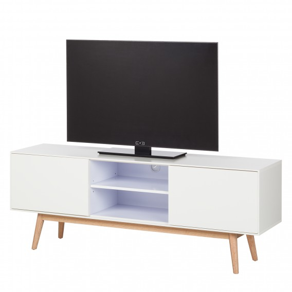 tv lowboard lindholm eiche teilmassiv home24. Black Bedroom Furniture Sets. Home Design Ideas