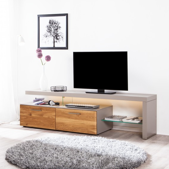 Rechts Beleuchtung Tv lowboard Solano AsteichePlatingrauMit Ausrichtung I y80NOvnPwm