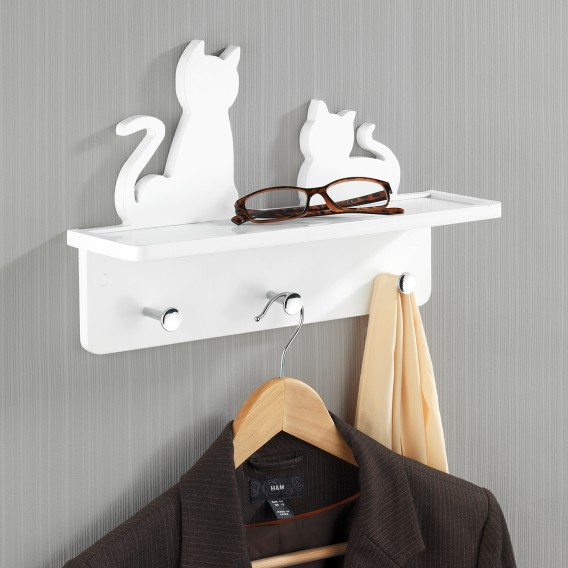 Katzen garderobe Wand Katzen Wand Wand Weiß garderobe Weiß garderobe J3lKcTF1