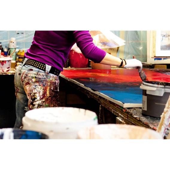 Farben Quadratur 100Handgemalt Wandbild Der 8PkZN0XOwn