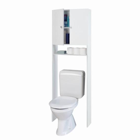 Meuble Pour Toilettes Blanc