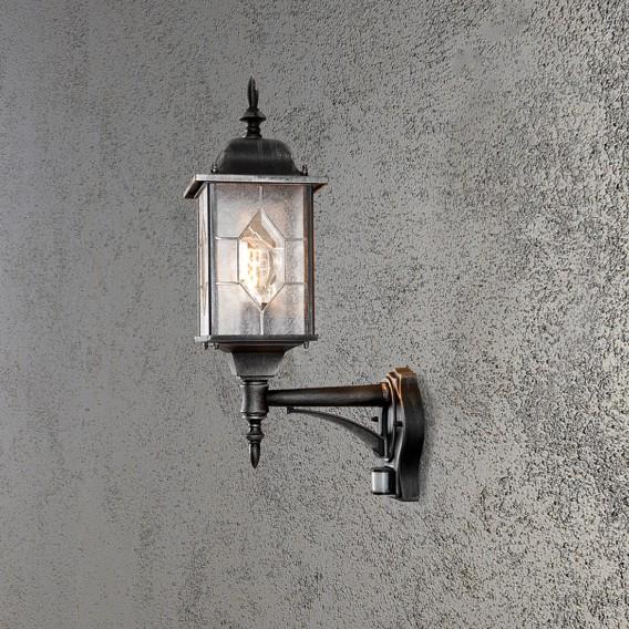Wegeleuchte flammig Mit Bewegungsmelder Aluminium glas1 Milano 3jL54qAR