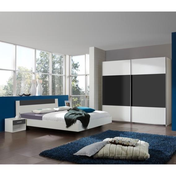 Chambre à coucher Ilona IV - Blanc alpin / Anthracite