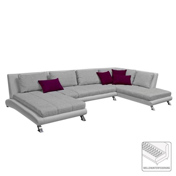 Roomscape sofa wohnlandschaft f r ein modernes heim home24 for Wohnlandschaft weiss kunstleder