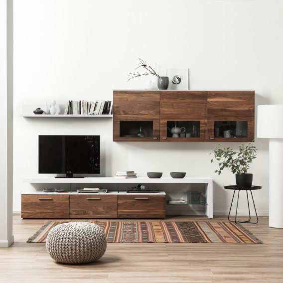 wohnwand solano 4 teilig home24. Black Bedroom Furniture Sets. Home Design Ideas