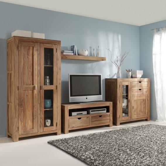 wohnwand yoga sheesham massiv home24. Black Bedroom Furniture Sets. Home Design Ideas