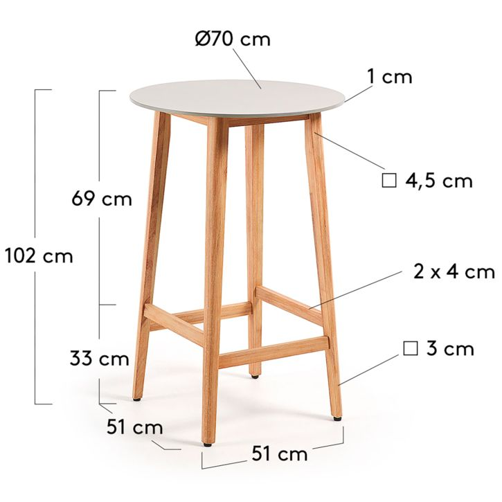 Table haute Minsy Acheter OkMelF9q