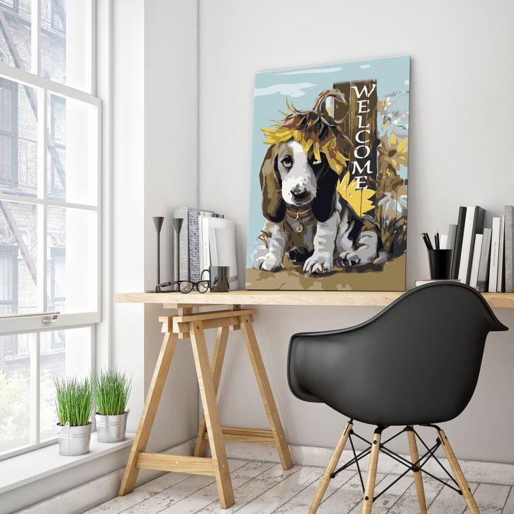 Bild Dog & Sunflowers kaufen MuV4MP WaulIw