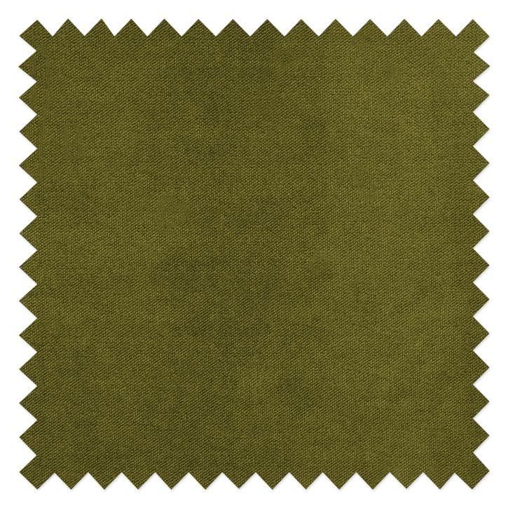 Recamiere Blomma - Samtstoff Olivgrün - Armlehne davorstehend links - Gestell: Nussbaumfarbig kHtOmY fq643S