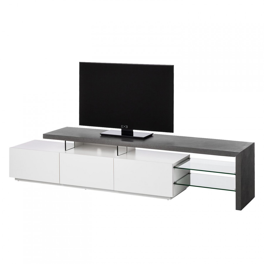Tv Meubel Mat Glas.Tv Meubel Molios Mat Wit Beton Home24 Nl