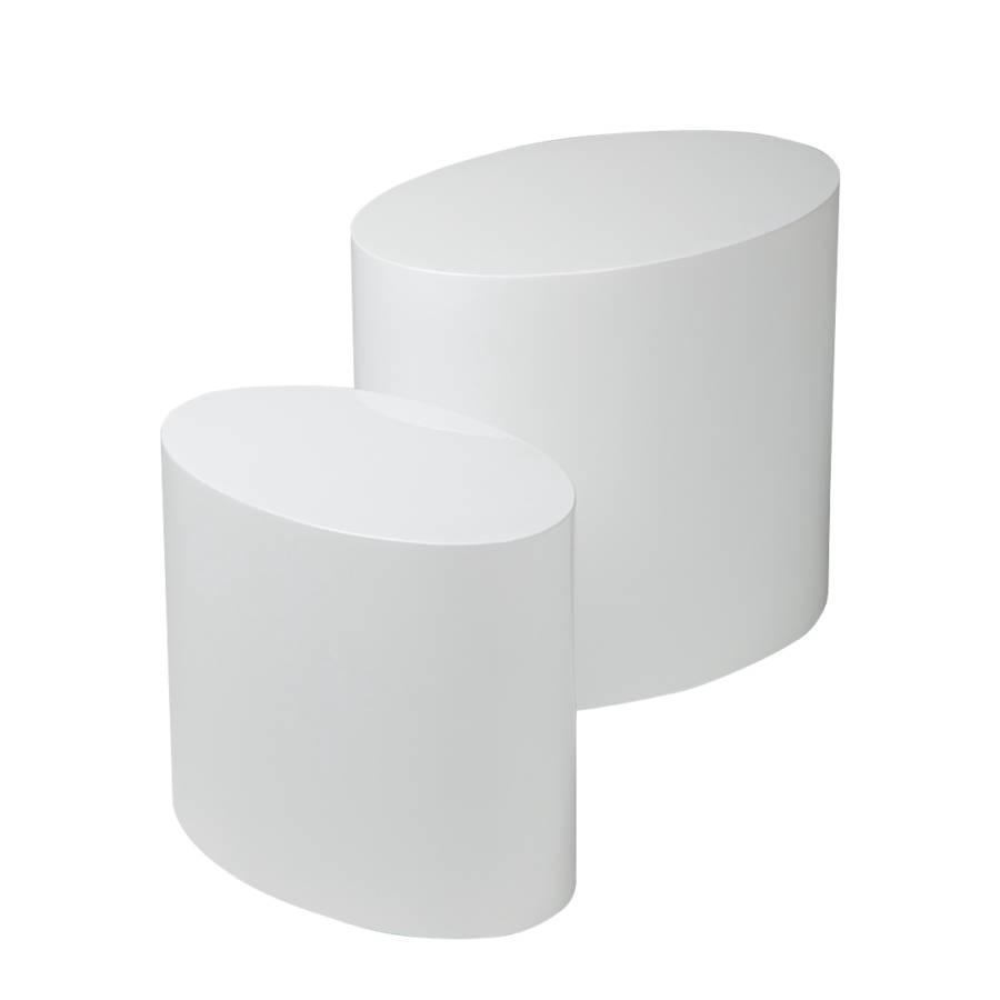 Beistelltisch Weiß Beistelltisch Elipse Elipse set set kuTXwOPiZ