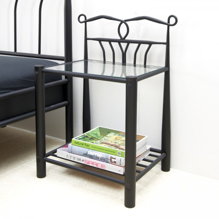 nachttisch metall schwarz excellent beautiful full size of hemnes ablagetisch schwarz kommode. Black Bedroom Furniture Sets. Home Design Ideas