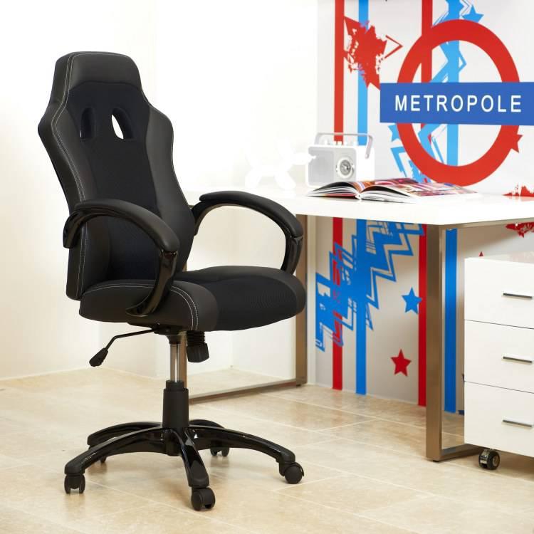Arlington Noir Chaise Bureau De Chaise nvm8wN0