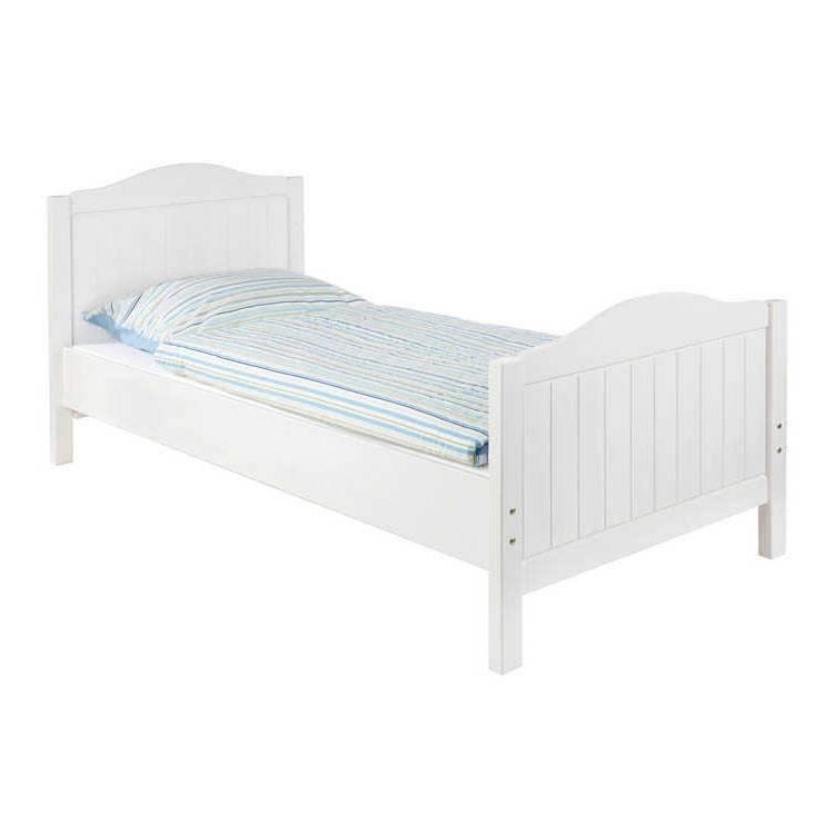 Elegant Einzelbett Weiß Sammlung Von Nina - Fichte Massiv - Weiß Lasiert