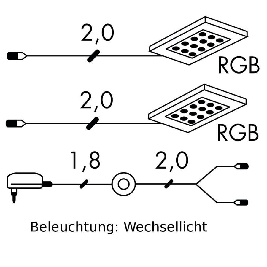 Puna2er Trafo setInklusive Led ZuleitungBeleuchtungWechsellicht Und beleuchtung N80wmvn