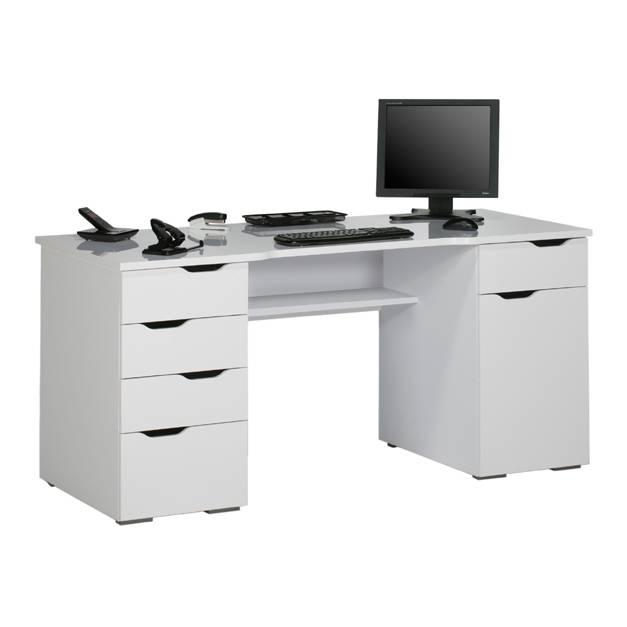 Perfect Computertisch Scarlett   Arktis Weiß Hochglanz Amazing Design