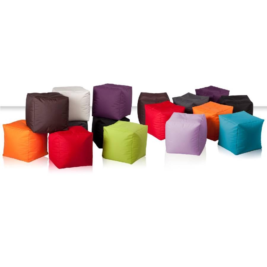 Scuba Scuba Pouf Cube Tissu Orange Pouf f7gyvbY6