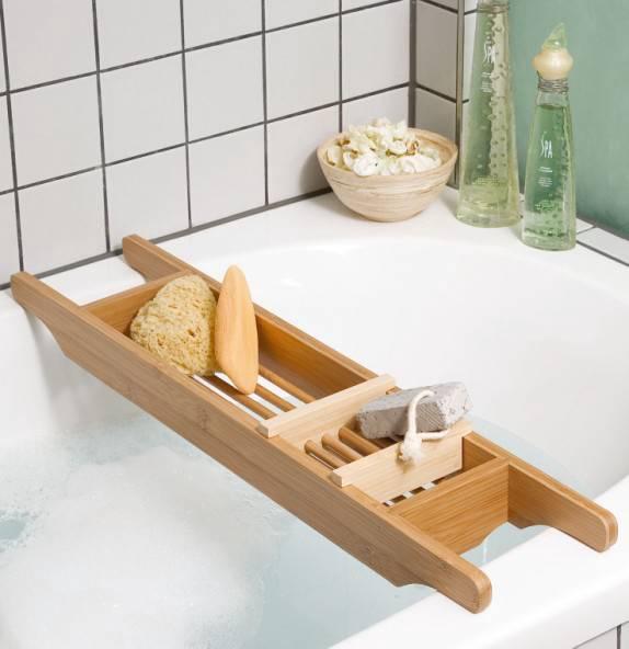 Mensola per vasca da bagno Lintgen - Bambù | home24