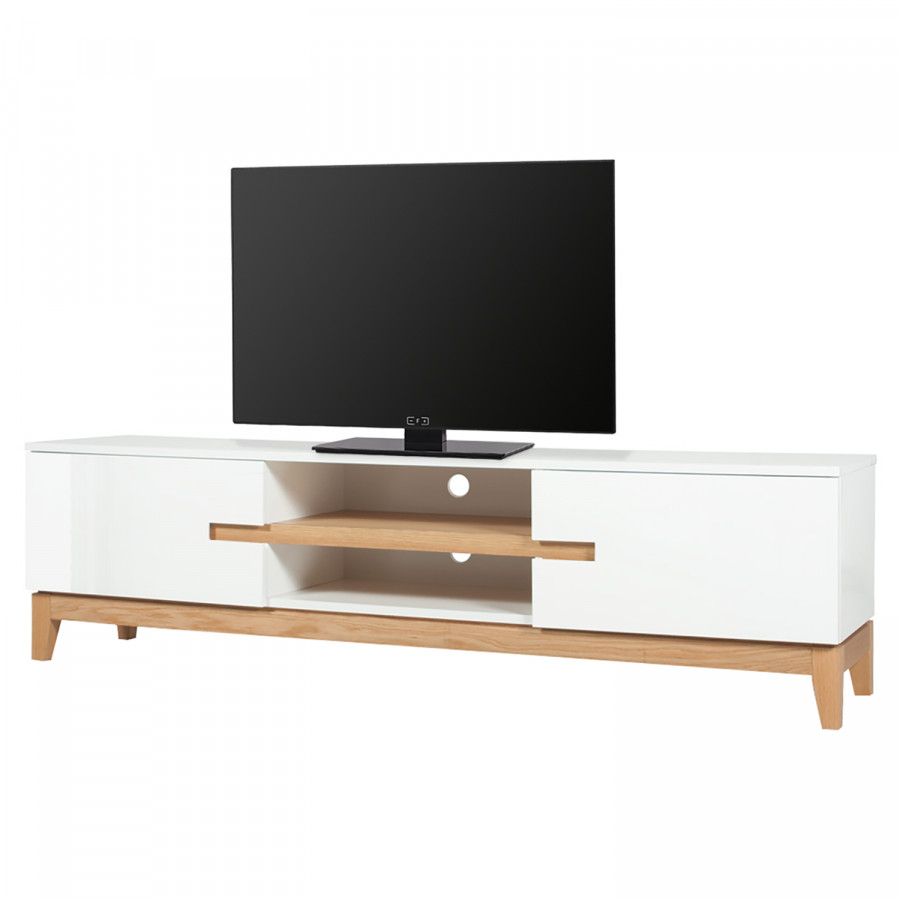 Tv Lowboard Dahlia Eiche Teilmassiv Home24