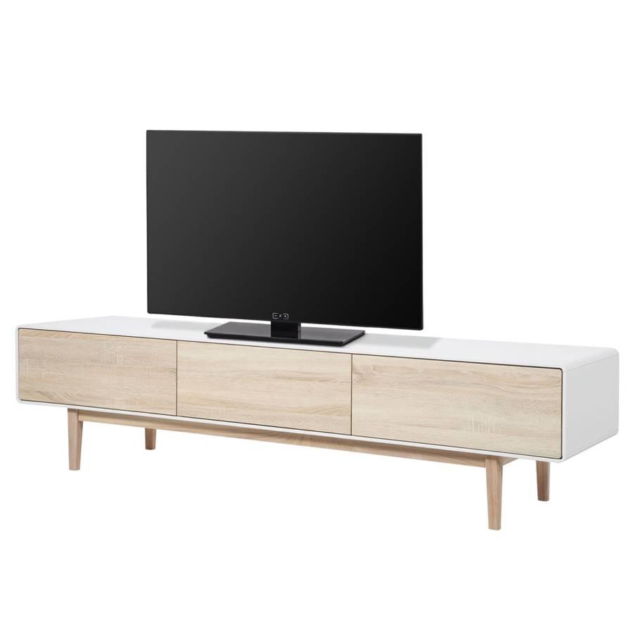 Tv Meubel Cool.Tv Meubel Drio Eikenhouten Look Wit Home24 Nl