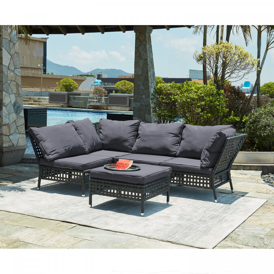 D'angle TissuPolyrotinGris Anthracite Fauteuil Kylo Lounge f76ybgY