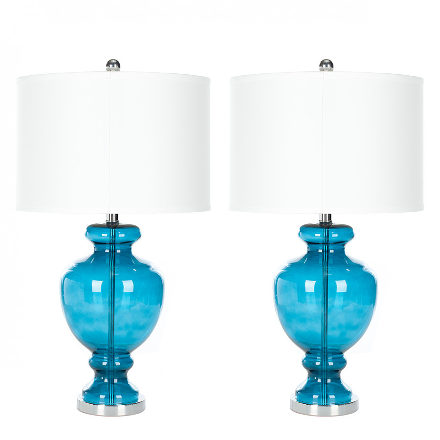 Lampes 2Turquoise Lampes Table Ariellelot Lampes Table 2Turquoise Ariellelot De De dexBrCo