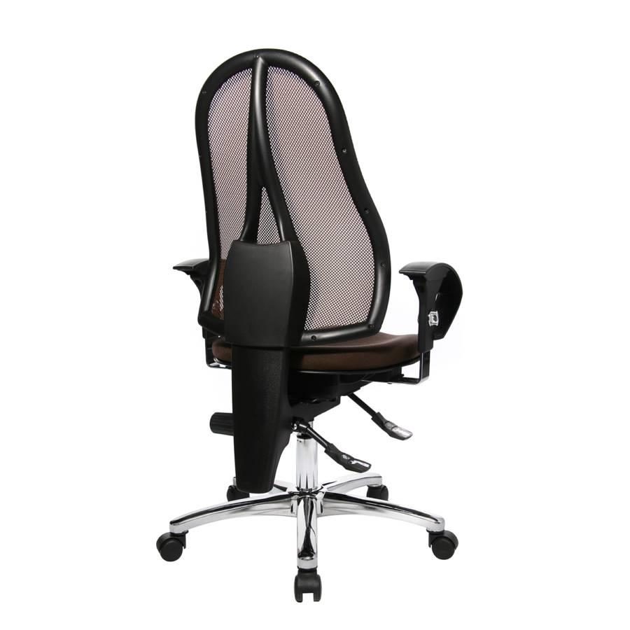 Sitness KunstfaserMetallDunkelbraun Chrom Bürodrehstuhl Sitness Bürodrehstuhl 15 X0Ok8wPn