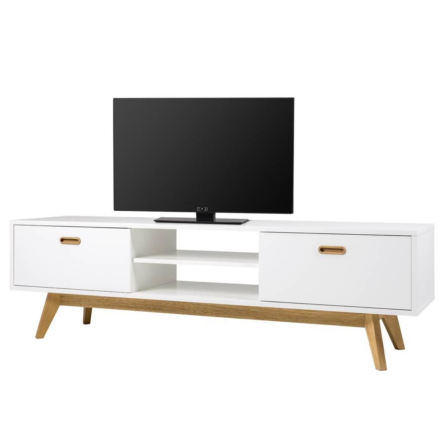 TeilmassivWeiß lowboard Tv Bess Tv Eiche Nwv8mOn0