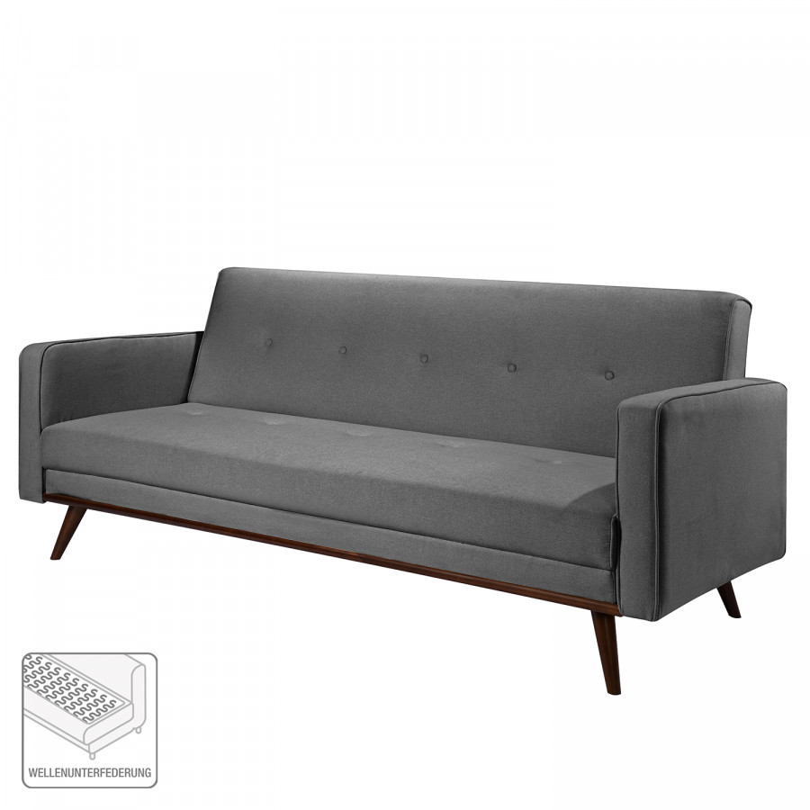 Convertible Deluxe Clair Daru TissuAnthracite I Canapé Nn0Pyvm8Ow