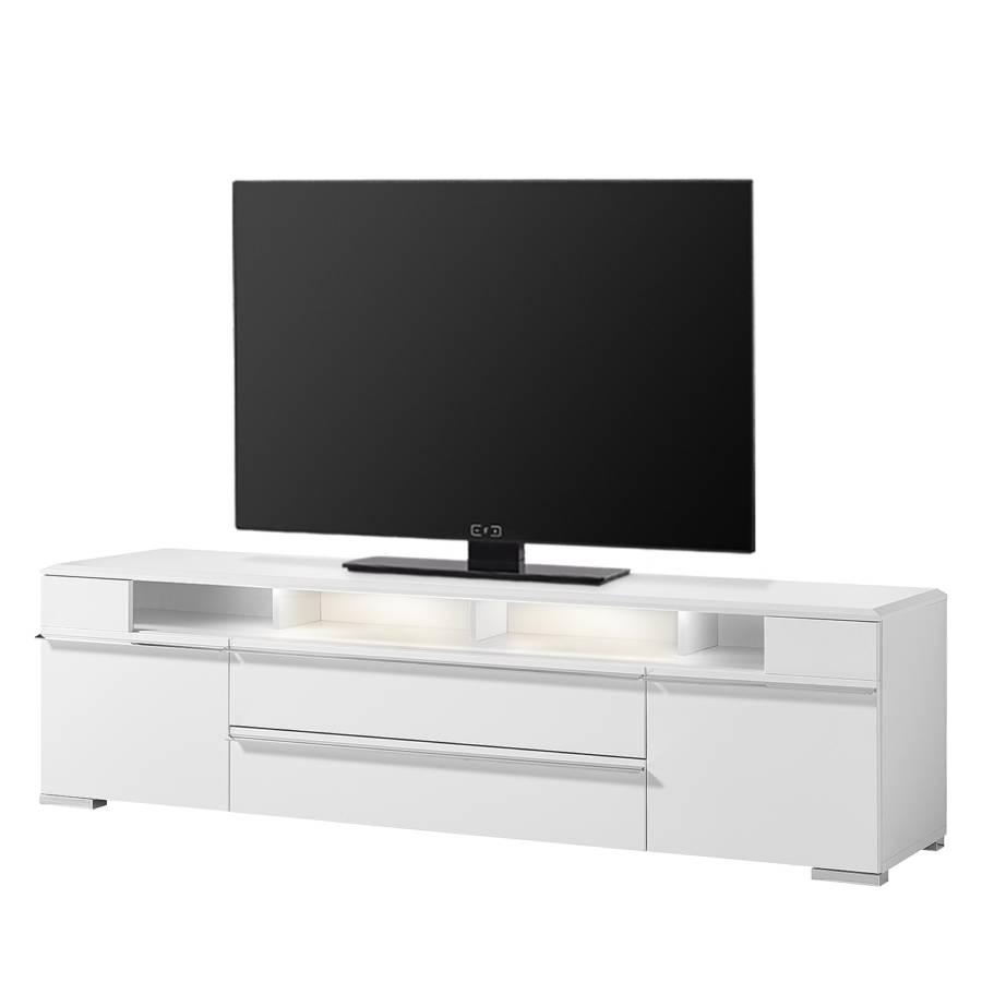 Cupar 210 Cm Weiß InklBeleuchtungMatt lowboard Tv qGzVpSMU