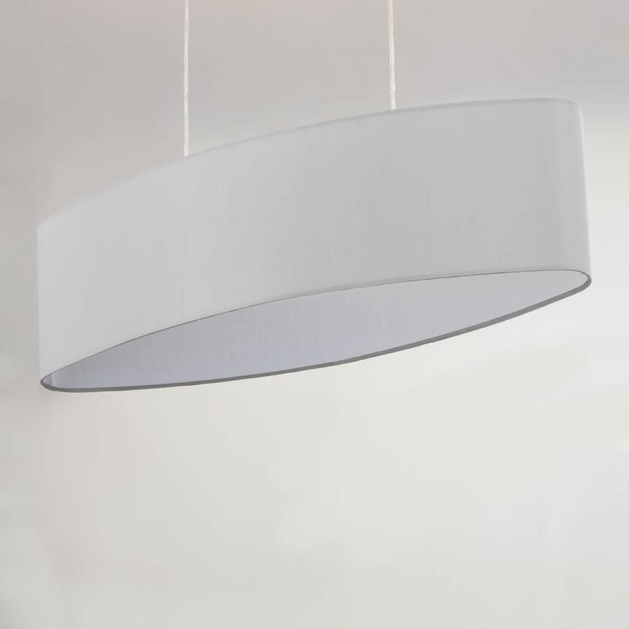 Son Tissu Suspension Blanc Gris MélangéFer2 Ampoules AjL4R5