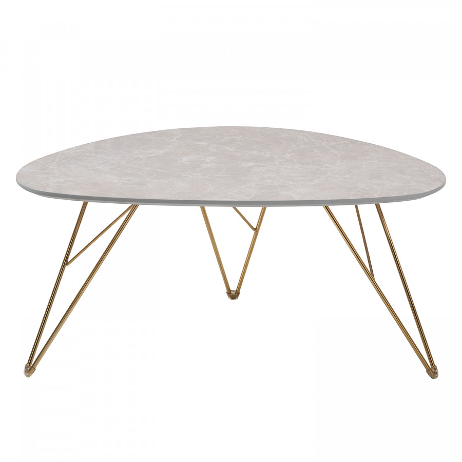 Ii Marbre ClairDoré Gris Sherry Imitation Table Basse YfvmI76gby
