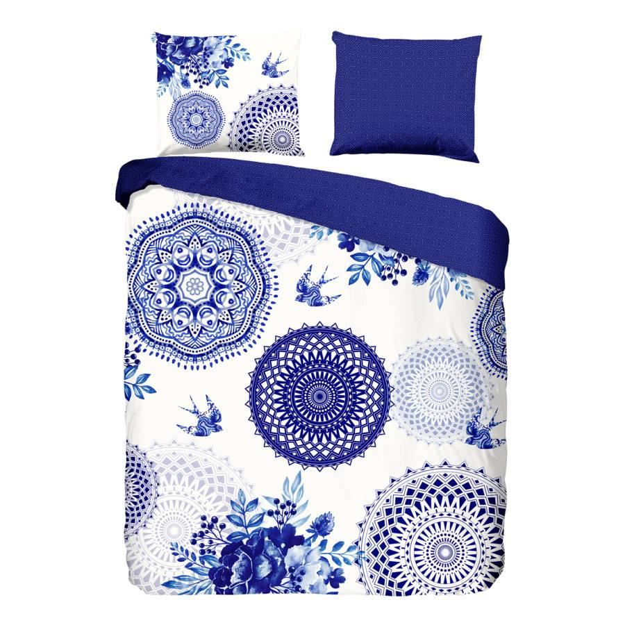 Grande Grande SatinWeißDunkelblau Bettwäsche Bettwäsche Bettwäsche SatinWeißDunkelblau AL35R4j