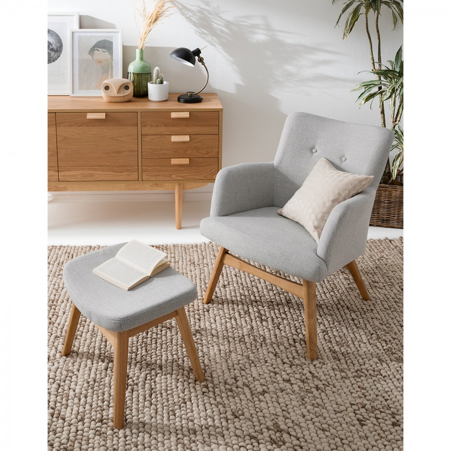Hooker Fauteuil Fauteuil Iii Hooker Clair TissuGris fgY6yIb7v