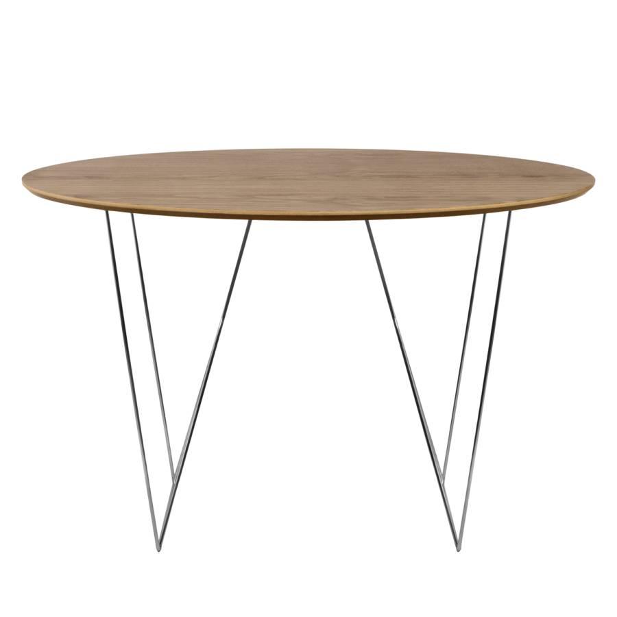 Table Cm MétalNoyerChrome Table Mecosta 120 5LqSjc43AR