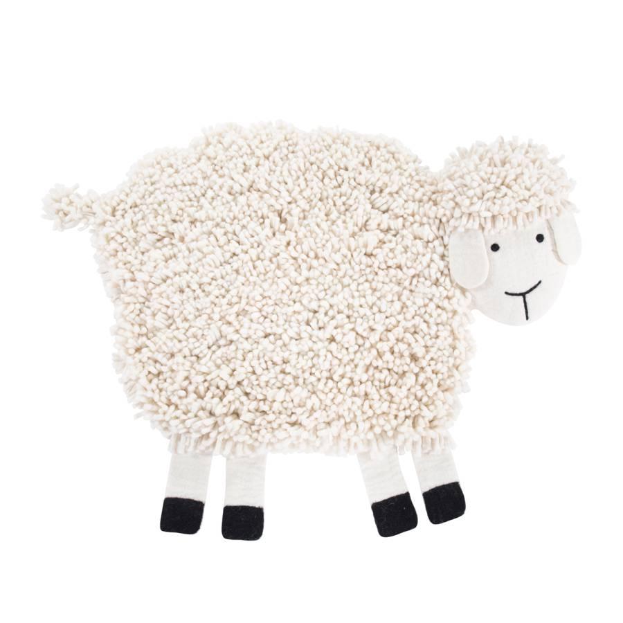 WolleCreme Das Schaf Kinderteppich Das Emma Schaf Kinderteppich Emma 8N0mnPyvwO