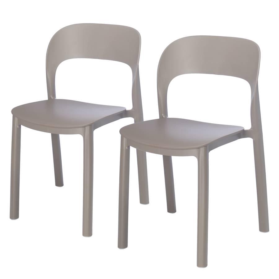 Sans Accoudoirs Chaises De 2Matière PlastiqueCappuccino Onalot Aj4Lqc35R