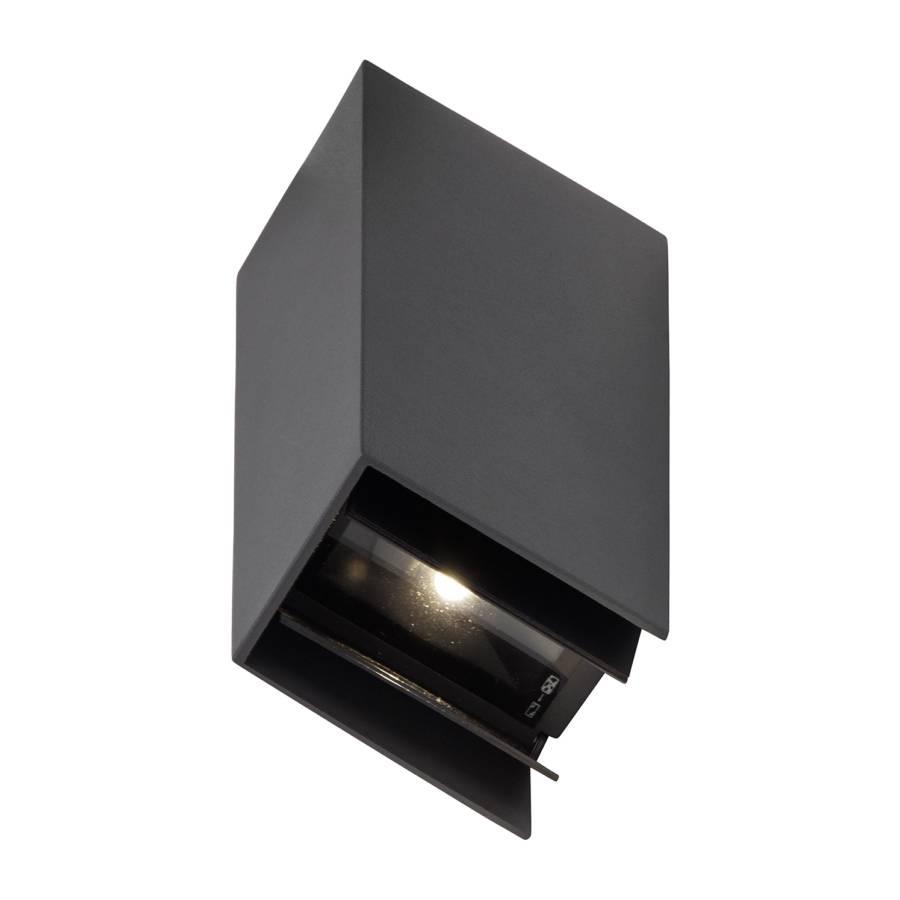 Adapt AcrylglasAluminiumAnthrazit aussen Led wandleuchte pzMSVU