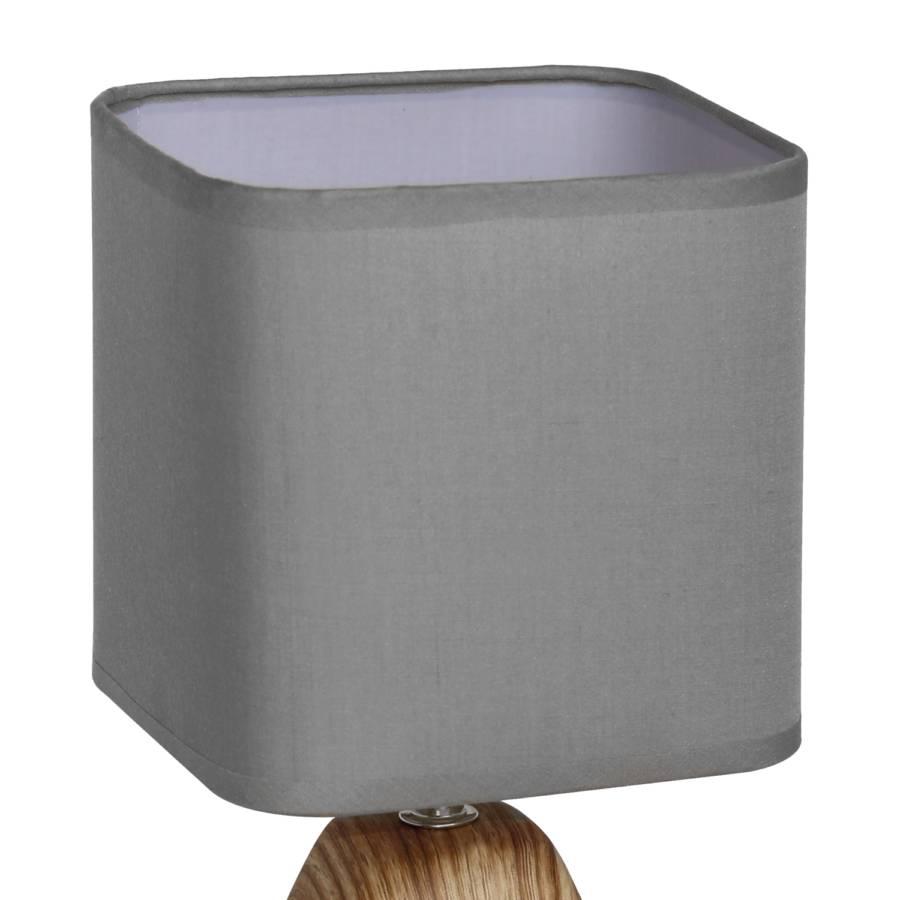 Grau Tischleuchte Tischleuchte MischgewebeKeramik1 flammig Katness LzVqMUpGS