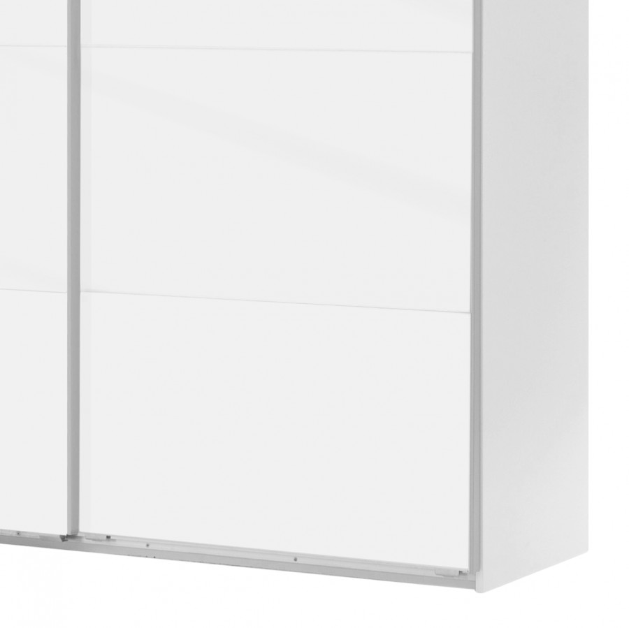 Schwebetürenschrank Easy I PolarweißWeißglas135 210 Plus Cm BdrCexo