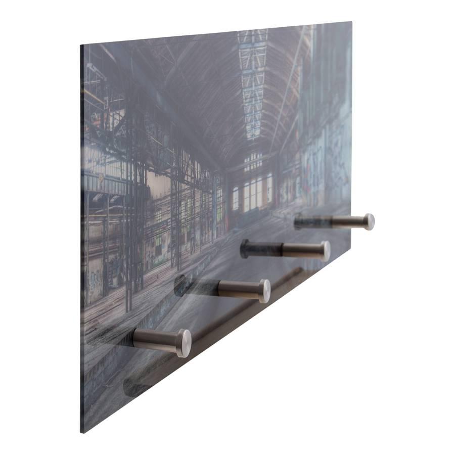 Warehouse VerreMétalAnthracite manteaux Mural Porte Argenté vNn0m8w