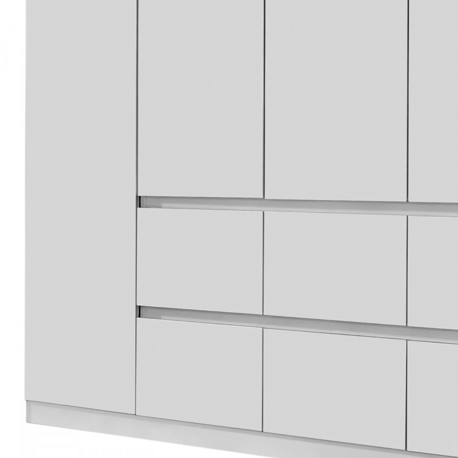 Mainz AlpinSans Portes Blanc 226 Armoire Miroir Cm RjL54A