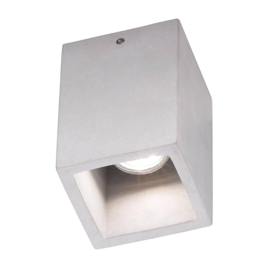 Plafonnier Cube Béton1 Ampoule Plafonnier Cube Béton1 3RLA54jq