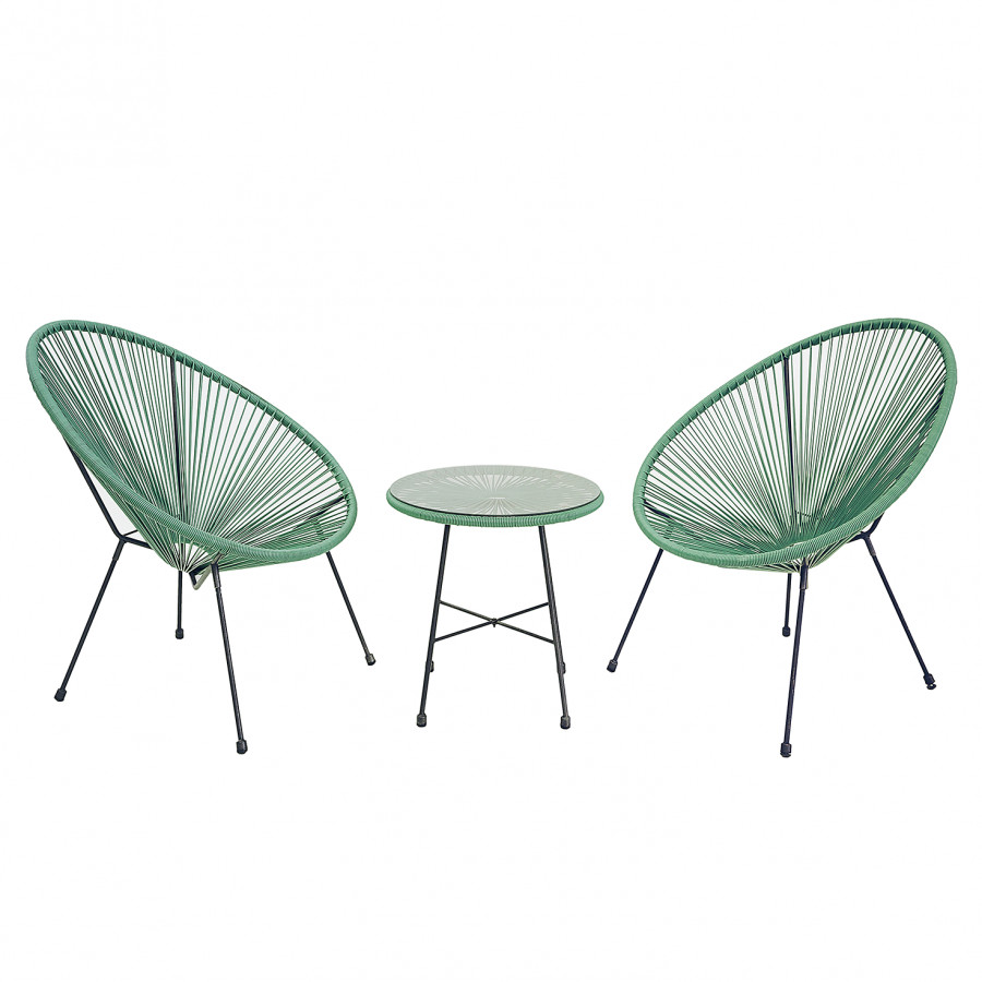 Salon de jardin Copacabana (3 éléments) - Fer / Matière plastique ...