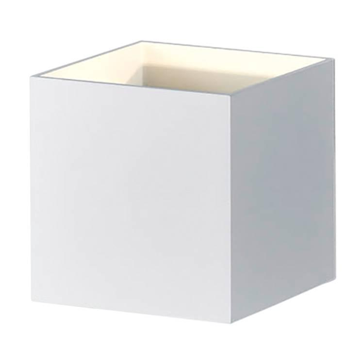 wandleuchte Led flammig Aluminium1 Louis Weiß wnv8mO0N