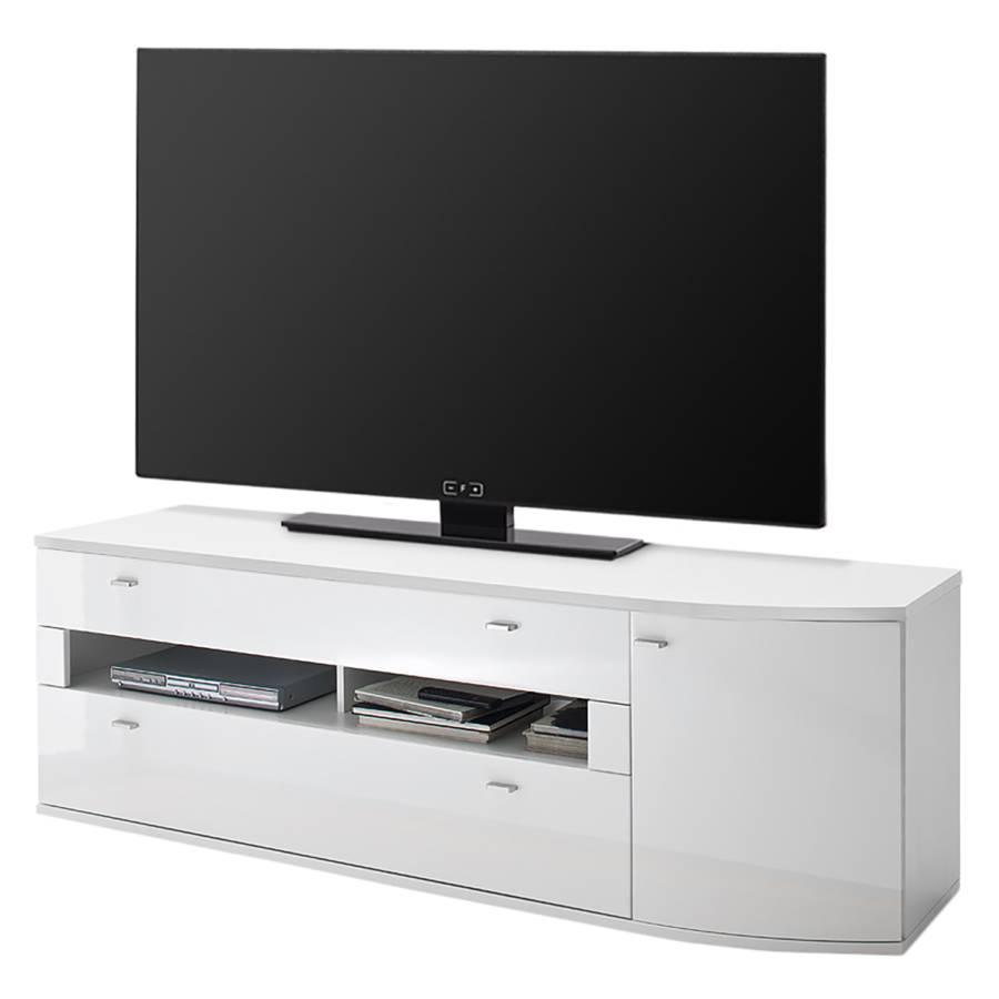 lowboard Hochglanz Dekor WeißWotaneiche Sostino Tv I vmN8wn0O