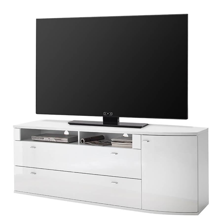 Sostino Tv Ii Dekor lowboard Hochglanz WeißWotaneiche lJuFKc3T1
