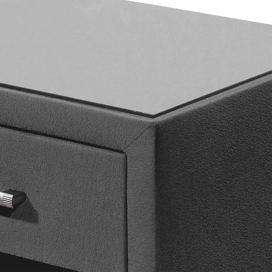 Chevet nbsp;belaja Table De MicrofibreGris Chevet Table Table De nbsp;belaja De Chevet MicrofibreGris gf7b6y