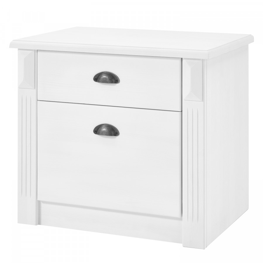Chevet MassifBlanc De Pin Table Inga CxdQBshtr